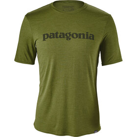 Patagonia Capilene Daily T-shirt Homme, text logo: sprouted green x-dye